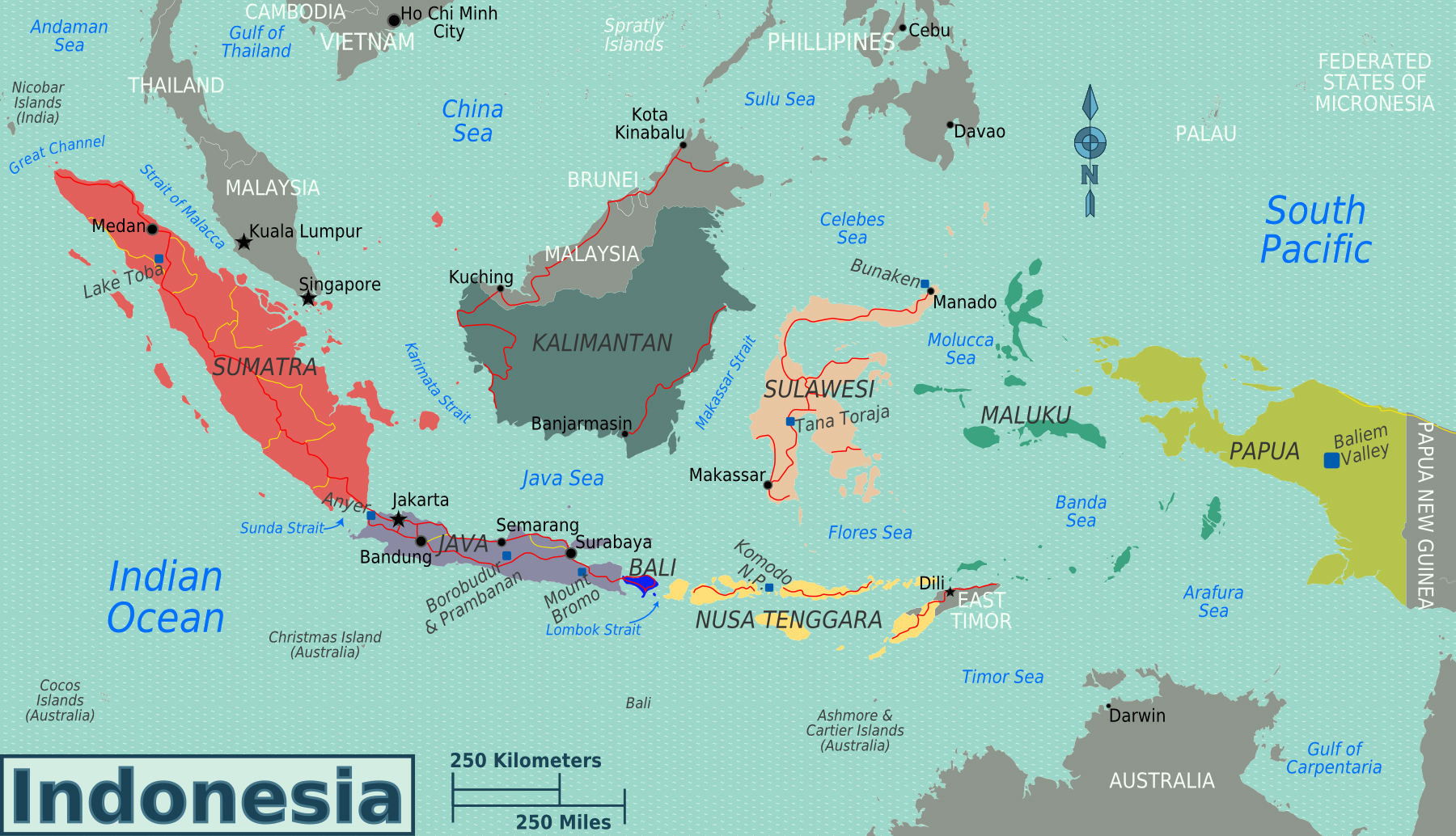 Picture of: Maps Of Indonesia Detailed Map Of Indonesia In English Tourist Map Of Indonesia Road Map Of Indonesia Political Administrative Relief Physical Map Of Indonesia