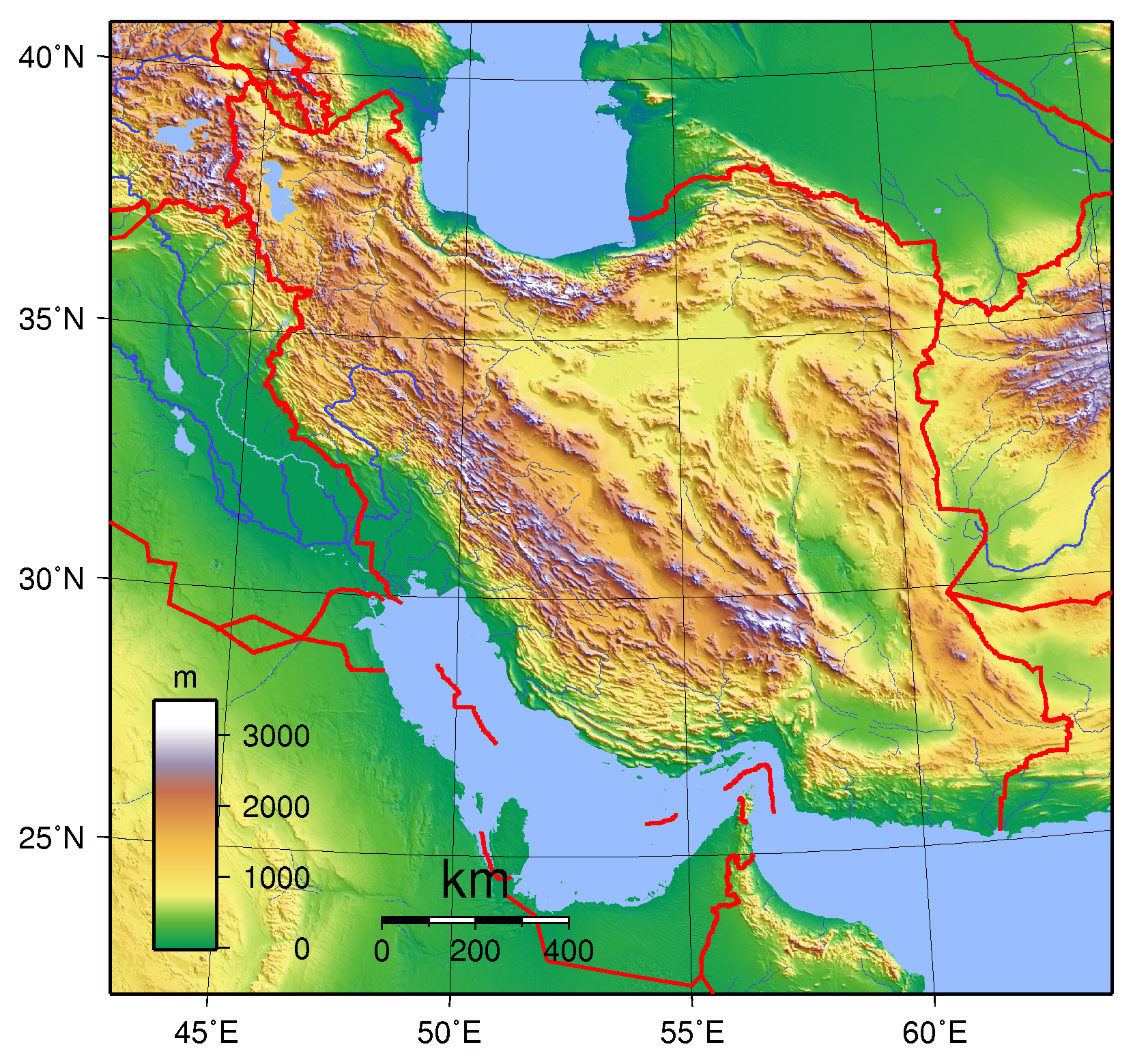 Maps Of Iran Detailed Map Of Iran In English Tourist Map Of Iran
