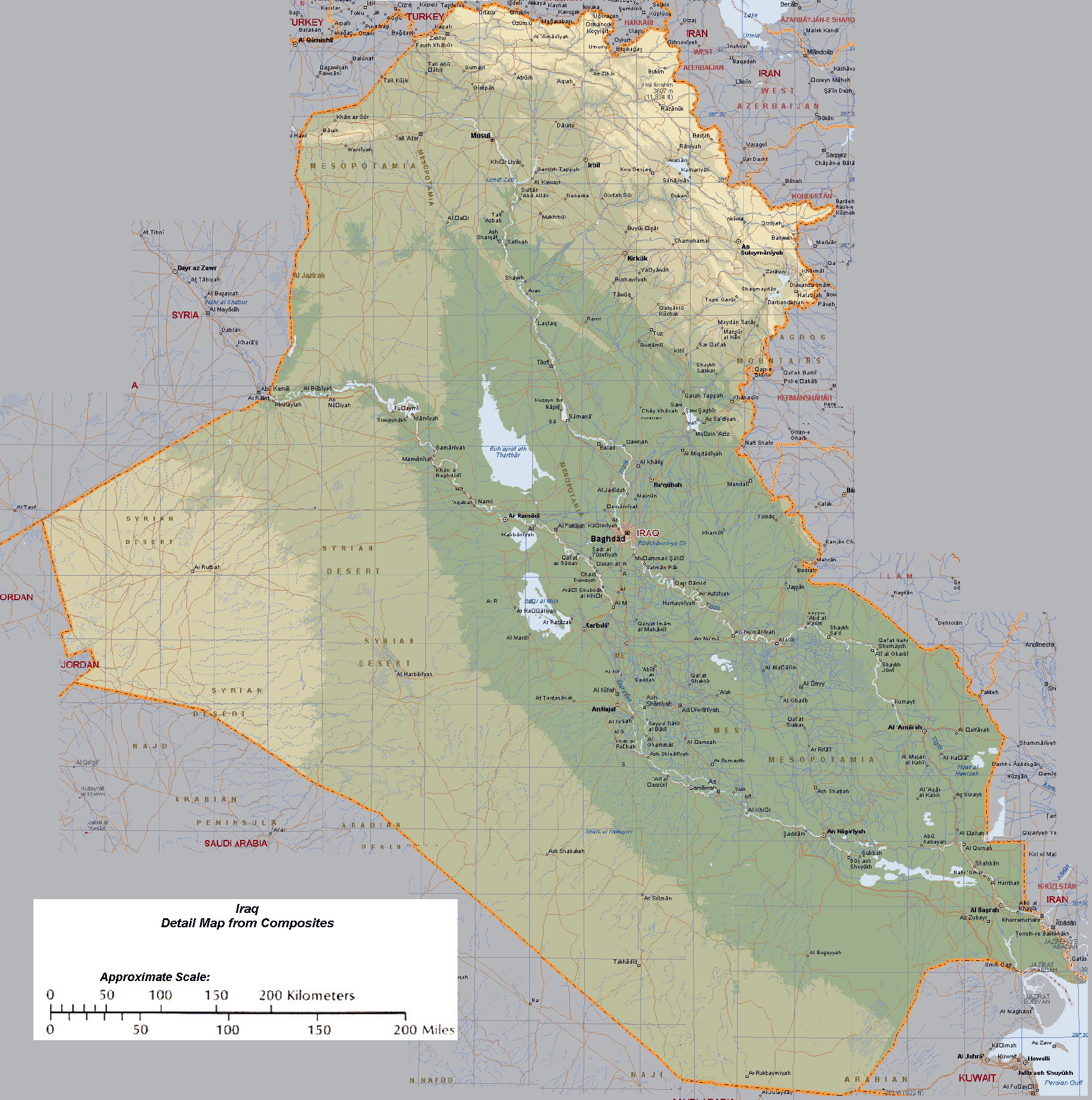 maps of iraq detailed map of iraq in english tourist