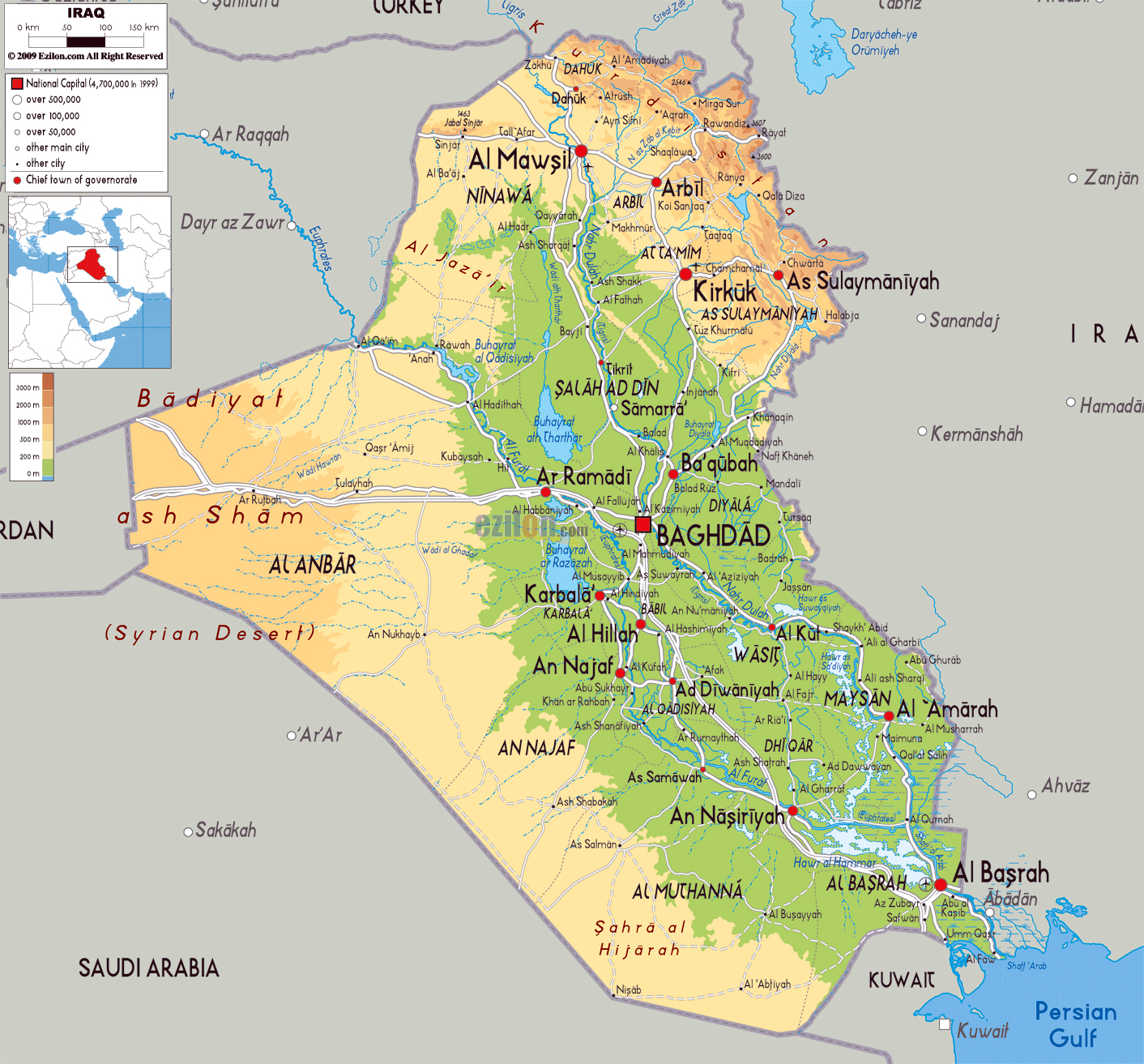 Maps Of Iraq Detailed Map Of Iraq In English Tourist Map Of - Iraq map