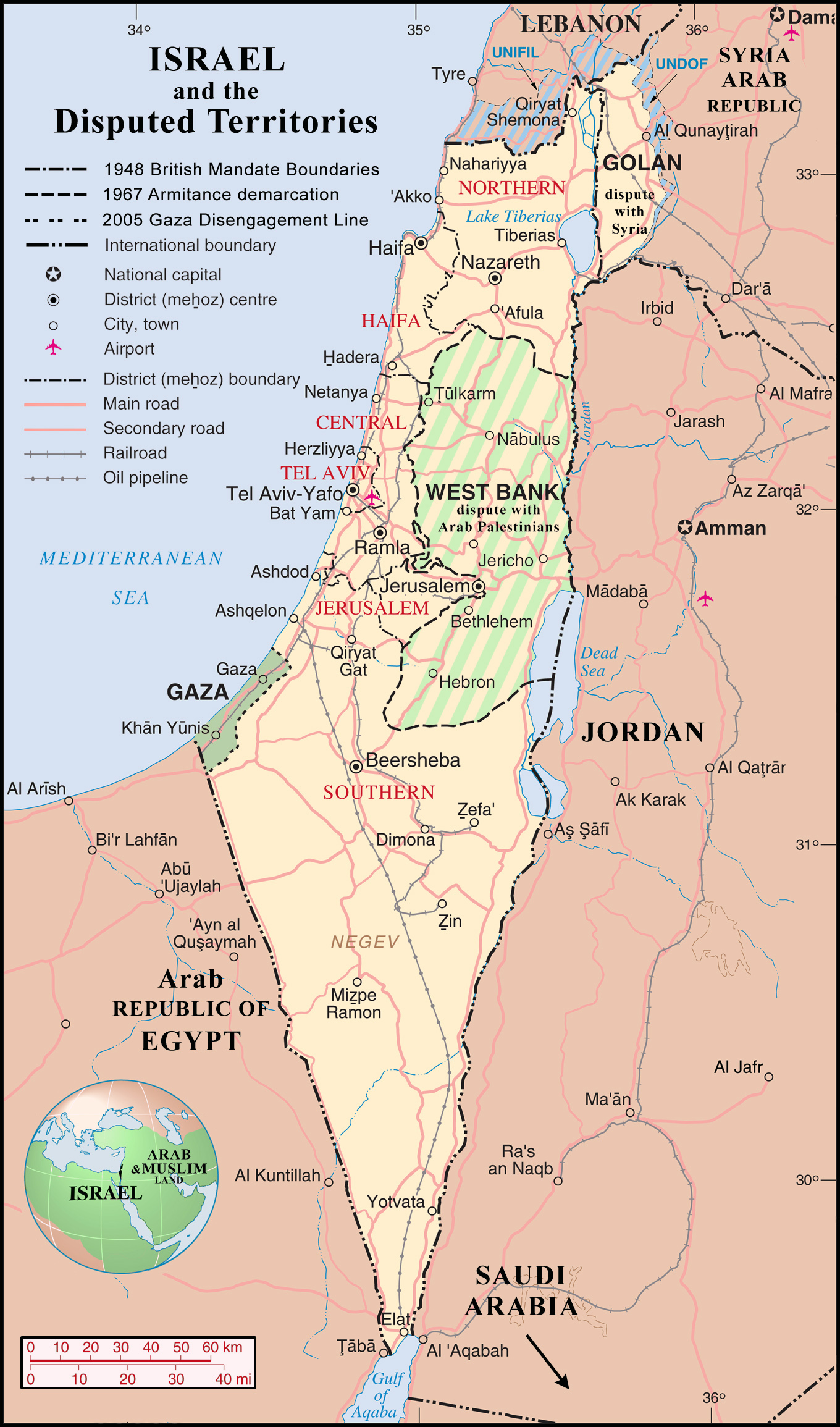 Maps of Israel | Detailed map of Israel in English | Tourist map of Detailed Map Of Israel Today on
