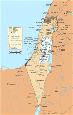 Large map of Israel and the Occupied Territories.