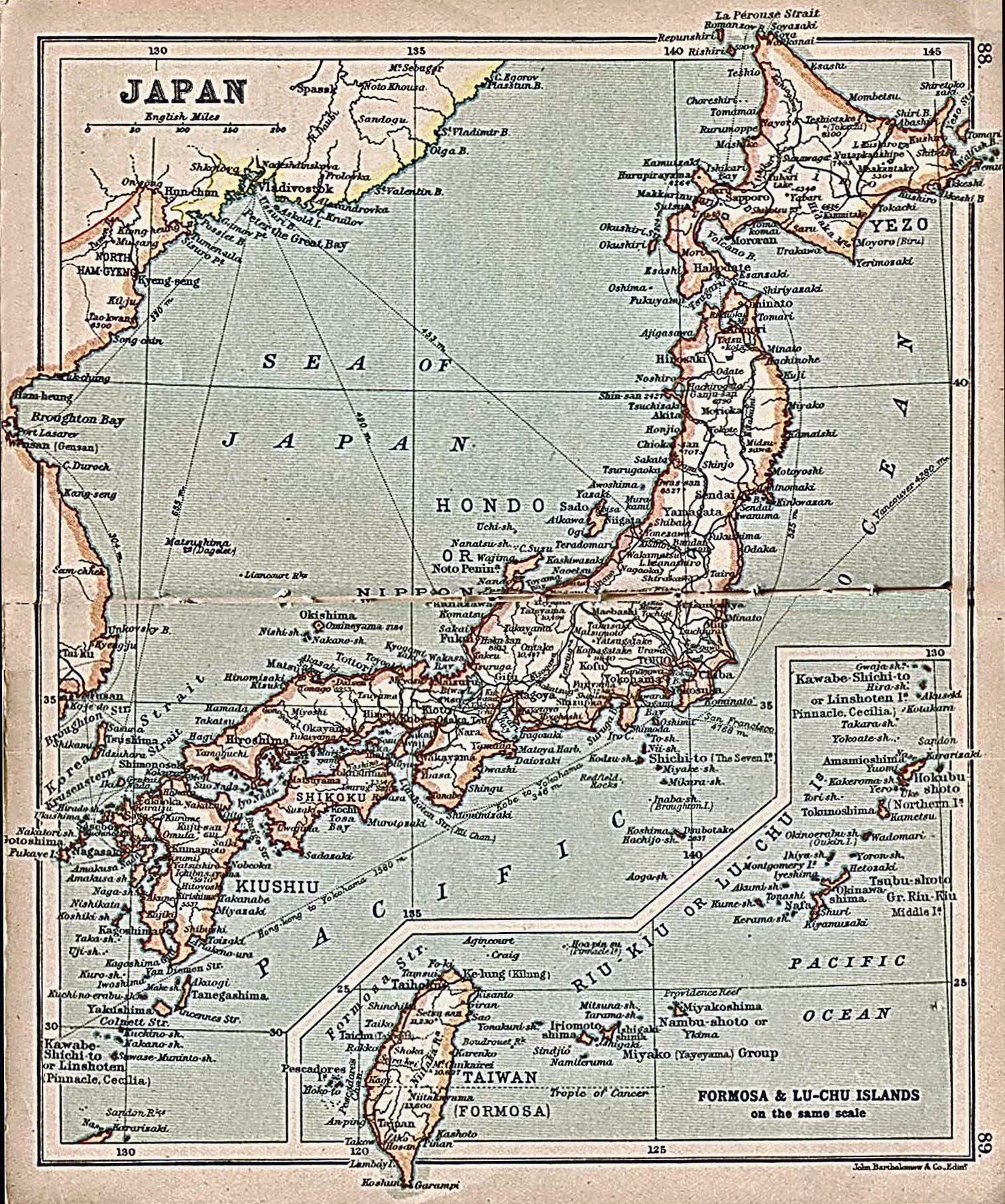 Maps of japan detailed map of japan in english tourist map of large detailed old map of japan with roads and cities 1911 gumiabroncs Image collections