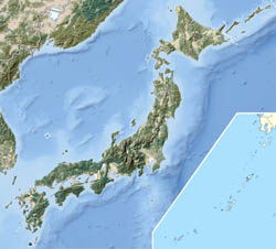 Large detailed relief map of Japan.