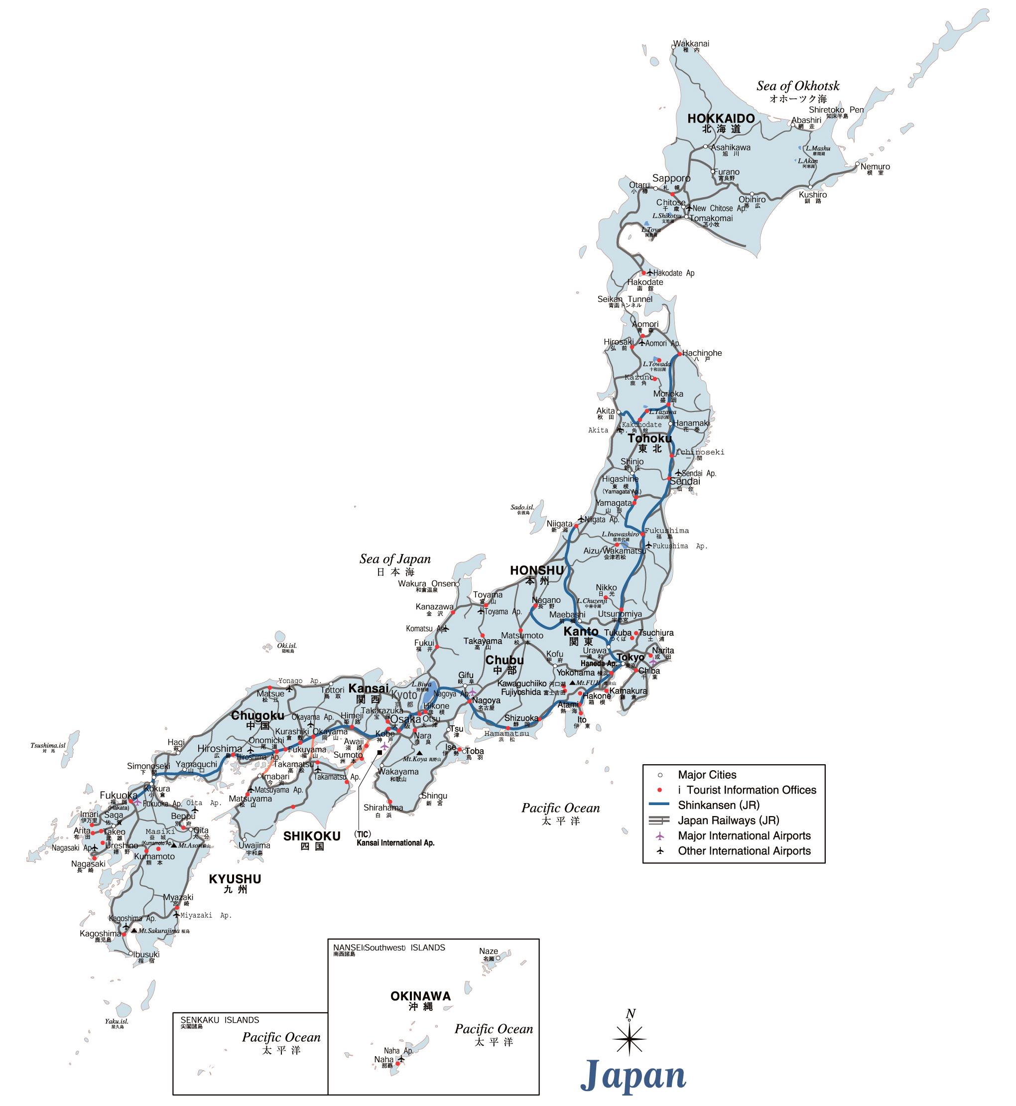 Labled Map Of Japan.Maps Of Japan Detailed Map Of Japan In English Tourist Map Of