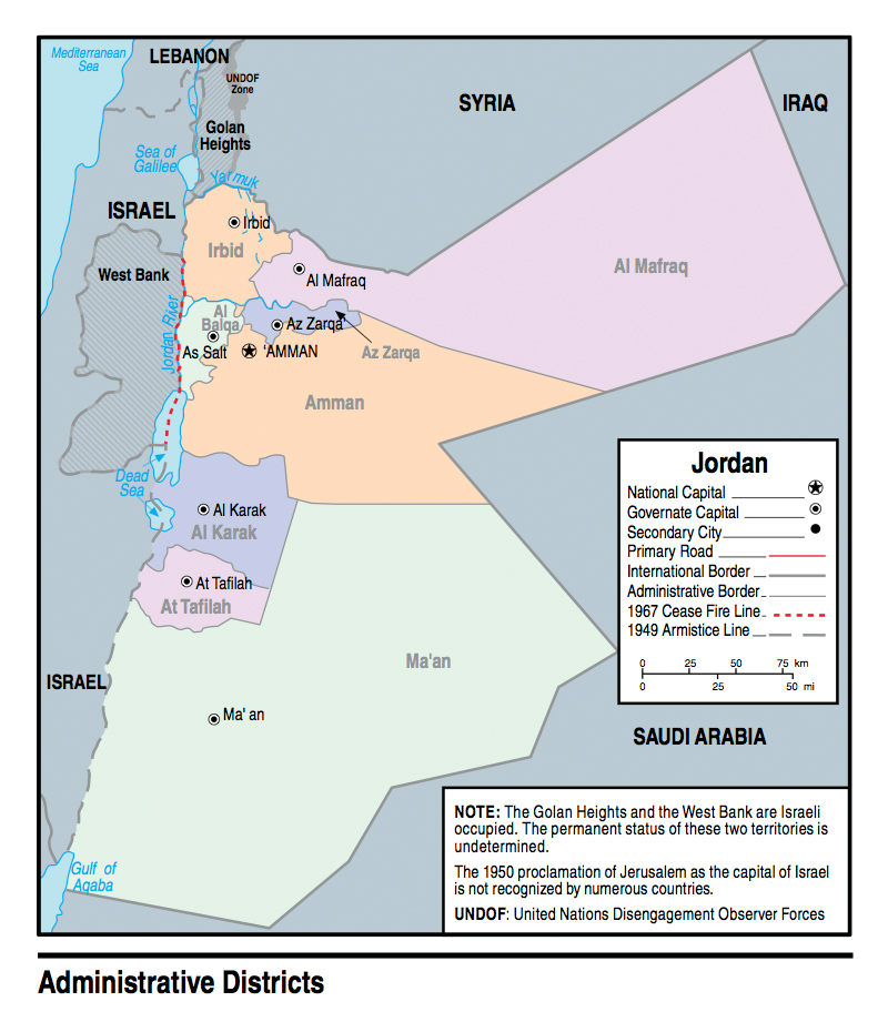 Jordan Political Map.Maps Of Jordan Detailed Map Of Jordan In English Tourist Map Of