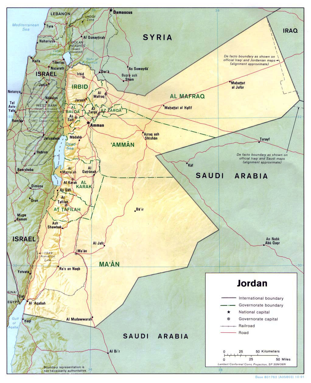 Political Map Of Jordan.Maps Of Jordan Detailed Map Of Jordan In English Tourist Map Of