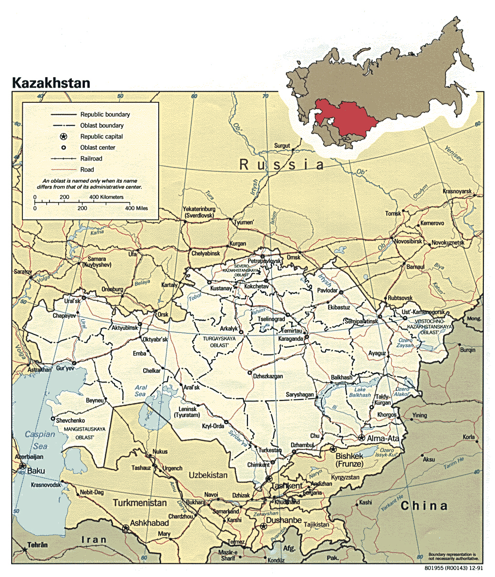 Maps of Kazakhstan Detailed map of Kazakhstan in English Tourist