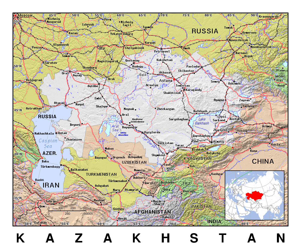 Maps of kazakhstan detailed map of kazakhstan in english detailed political map of kazakhstan with relief sciox Choice Image