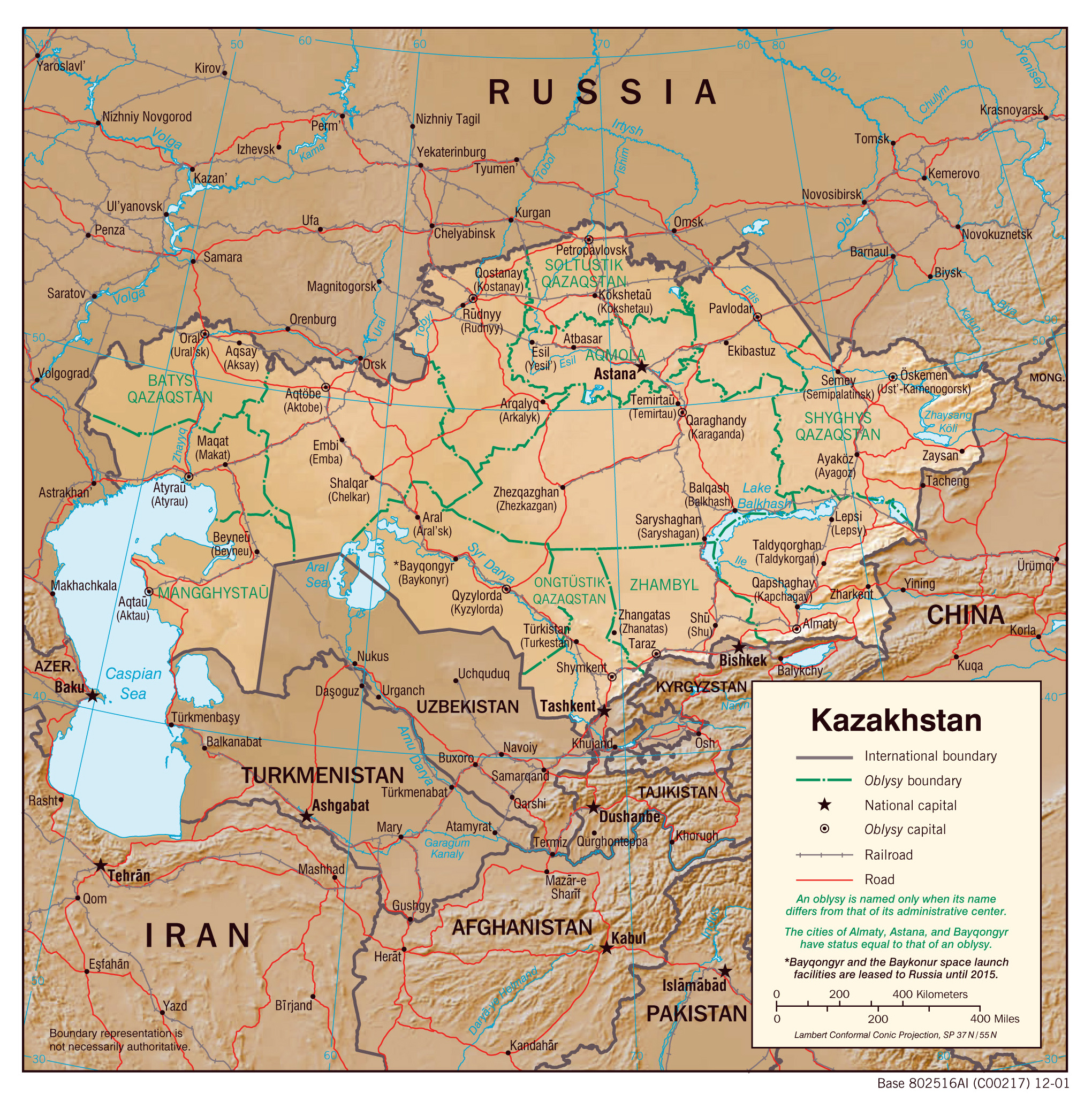 Kazakhstan Political Map.Maps Of Kazakhstan Detailed Map Of Kazakhstan In English Tourist