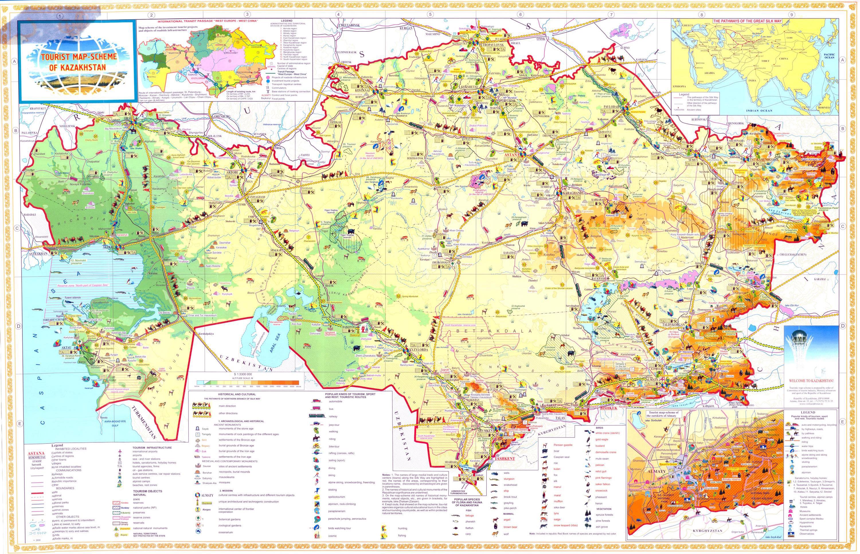 Maps of kazakhstan detailed map of kazakhstan in english tourist large detailed tourist map of kazakhstan gumiabroncs Images