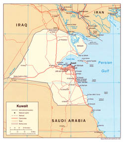 Detailed political map of Kuwait - 2006.