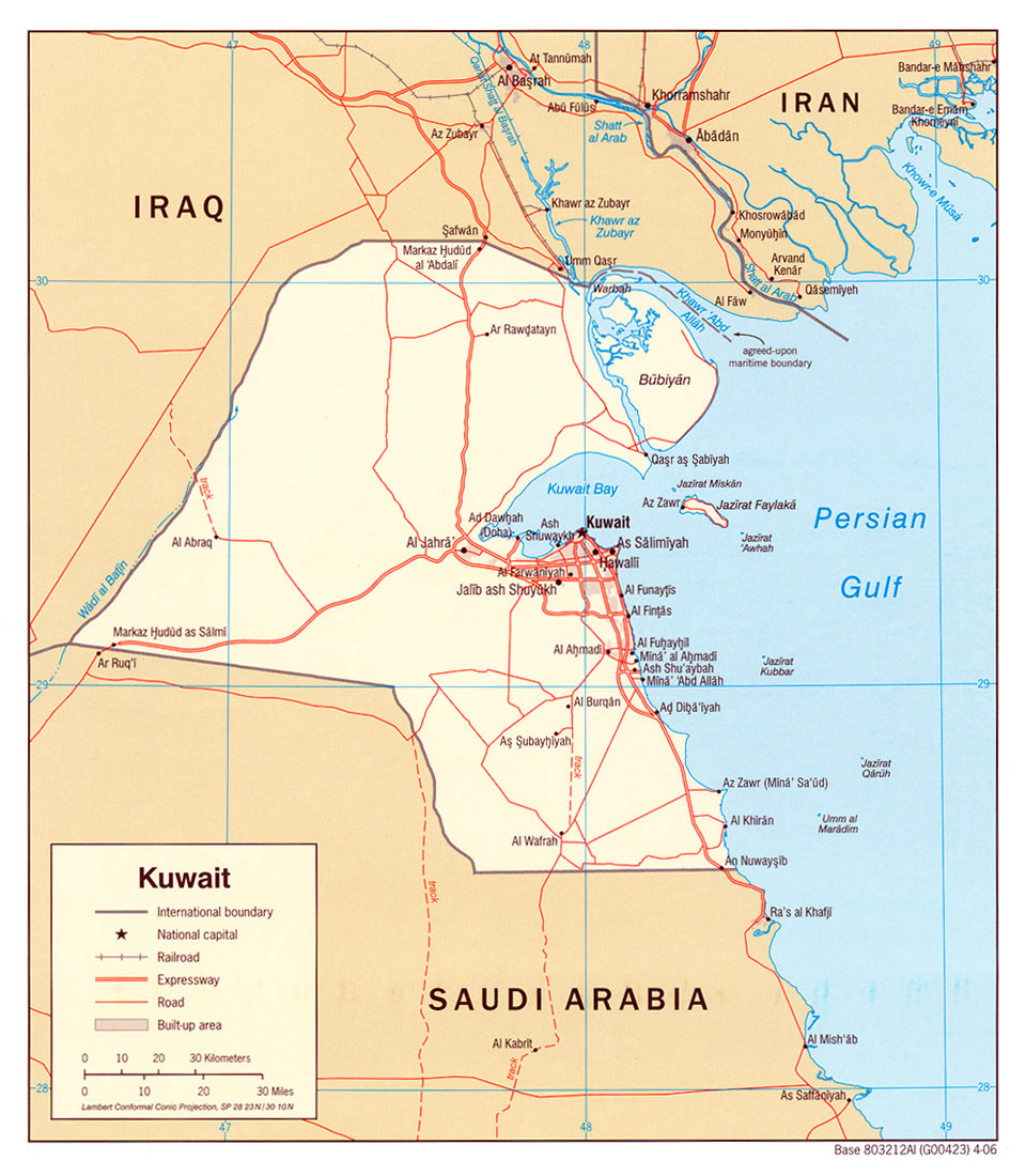 Maps of Kuwait Detailed map of Kuwait in English Tourist map of