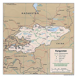 Detailed political and administrative map of Kyrgyzstan - 1996.