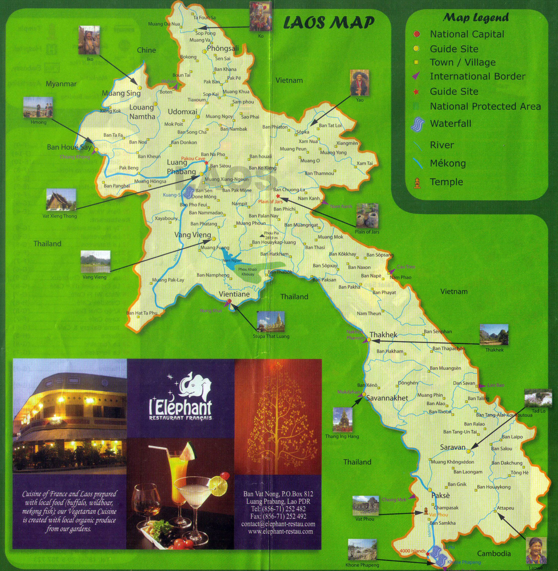 Maps of Laos Detailed map of Laos in English – Tourist Map Laos