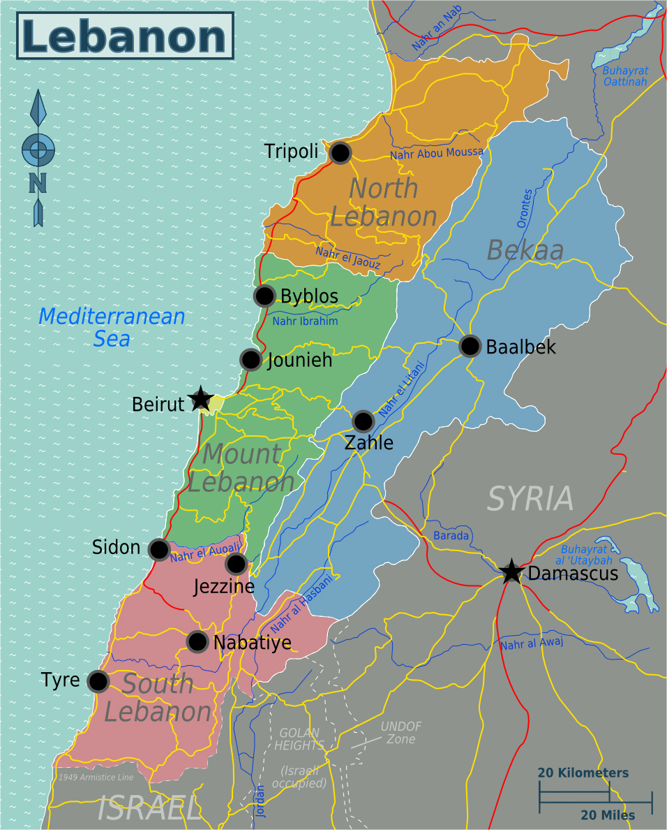 Maps of Lebanon