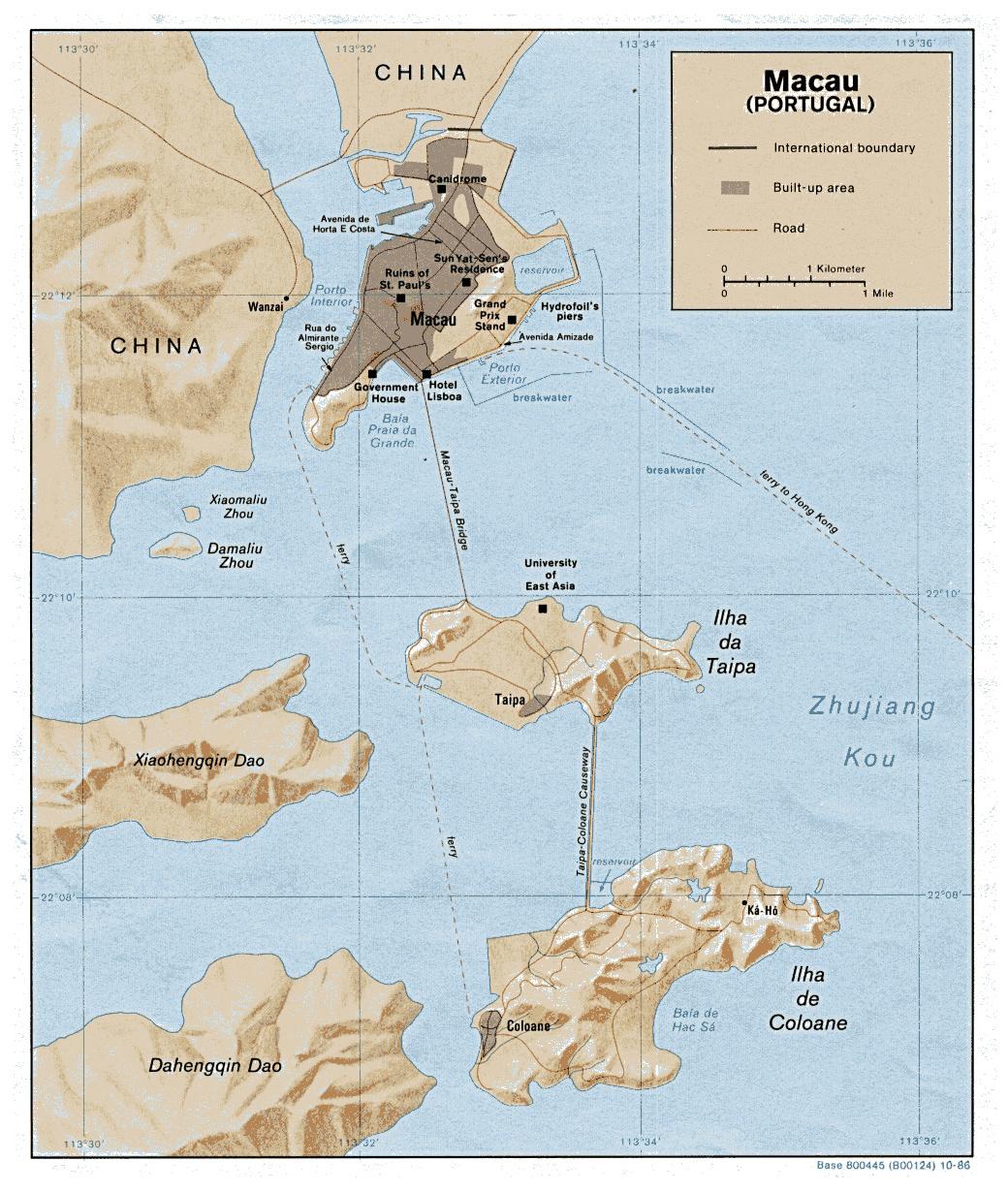Macau On World Map.Maps Of Macau Detailed Macau Of Lebanon In English Tourist Map