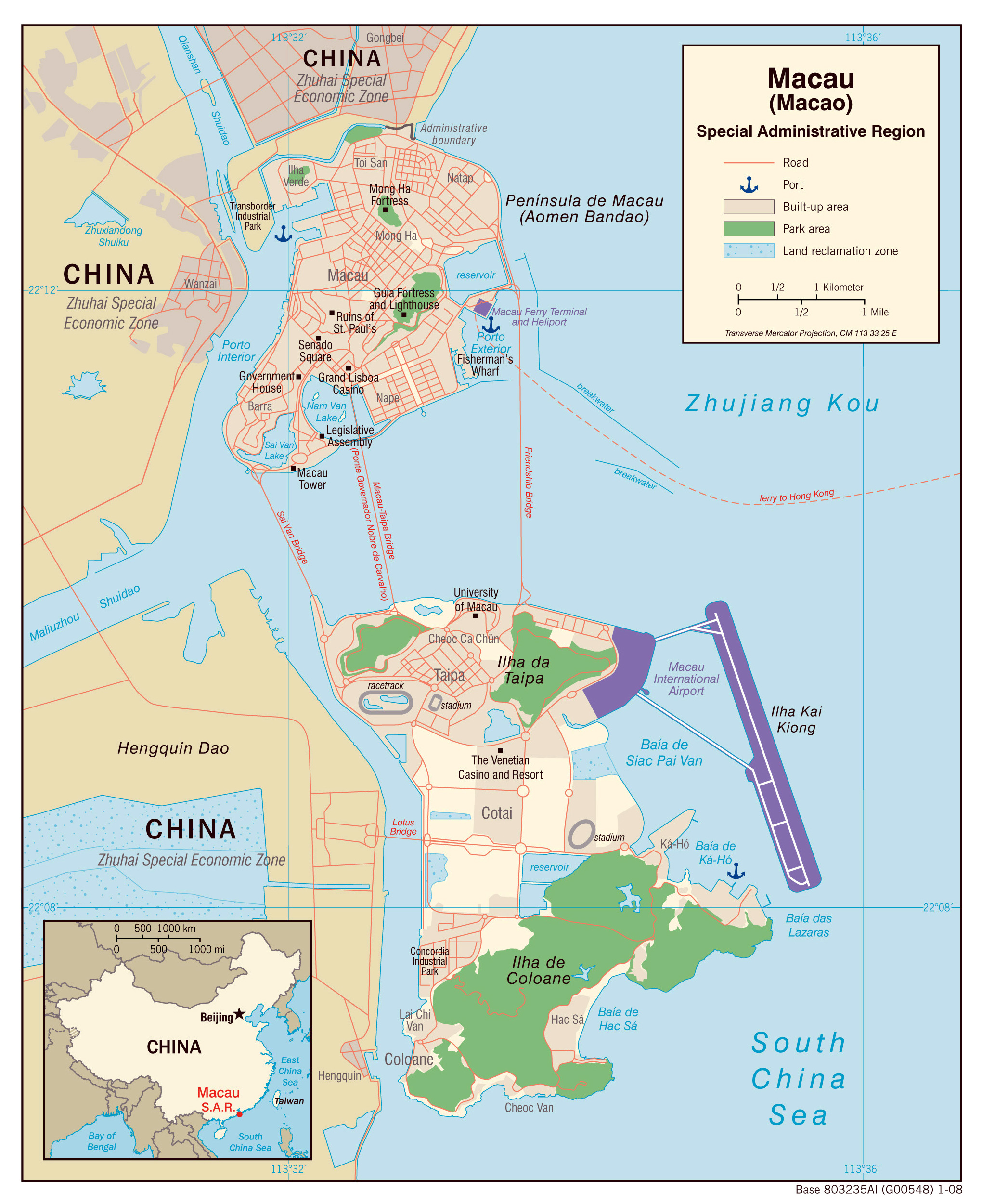 Maps of macau detailed macau of lebanon in english tourist map large detailed political map of macao with roads and sea ports 2008 gumiabroncs Choice Image