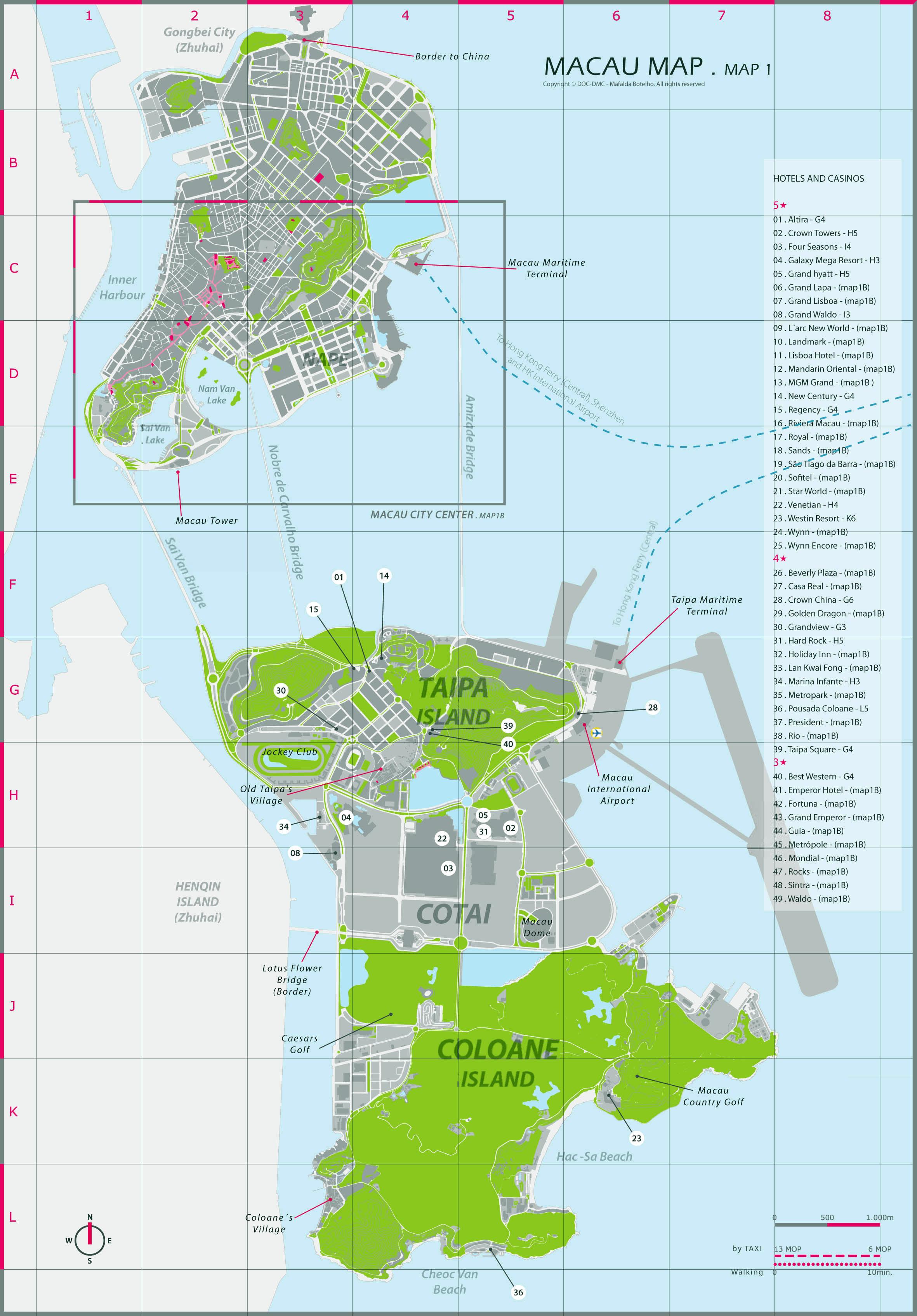 Macau Casino Map