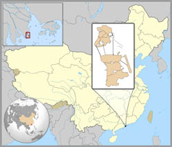 Large location map of Macau.