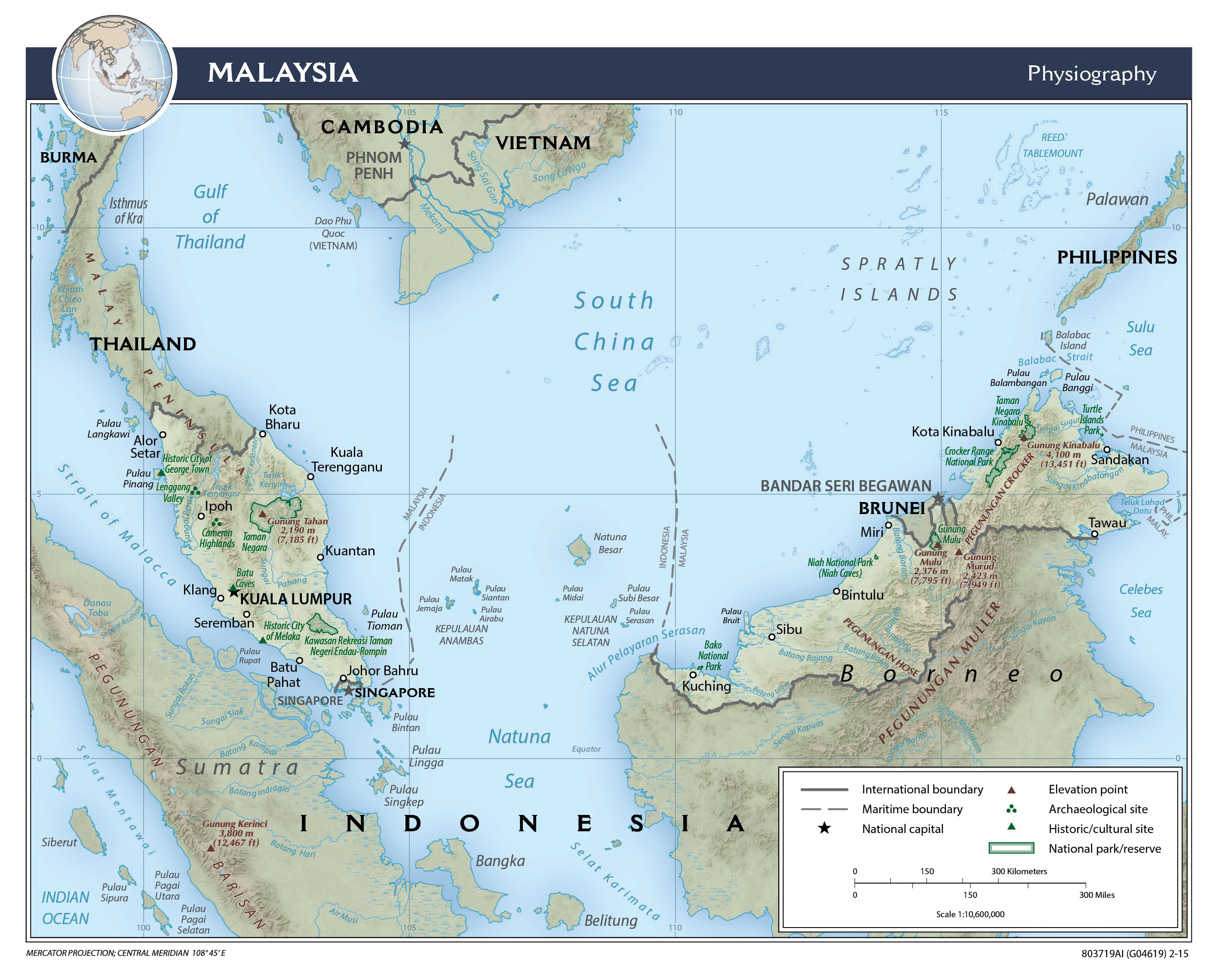 Maps of Malaysia | Detailed map of Malaysia in English | Tourist map ...