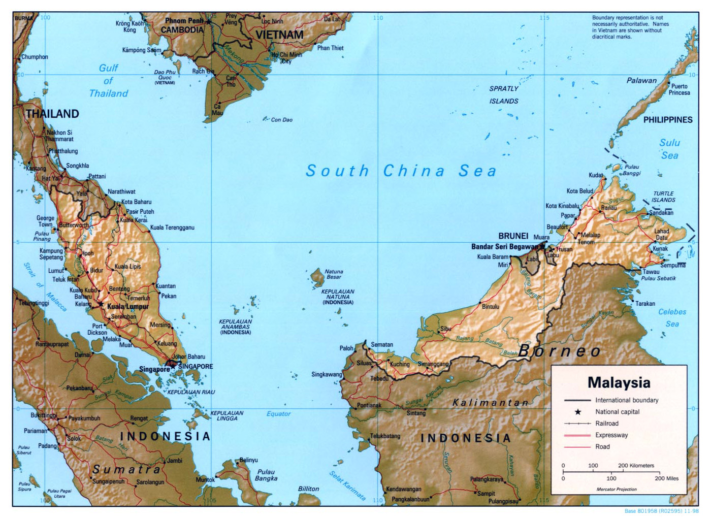 Maps of Malaysia Detailed map of Malaysia in English Tourist map