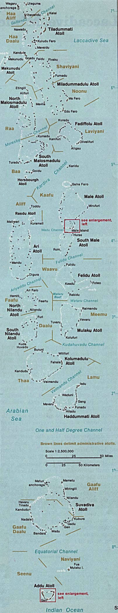 Maps of maldives detailed map of maldives in english tourist detailed map of maldives 1976 sciox Gallery
