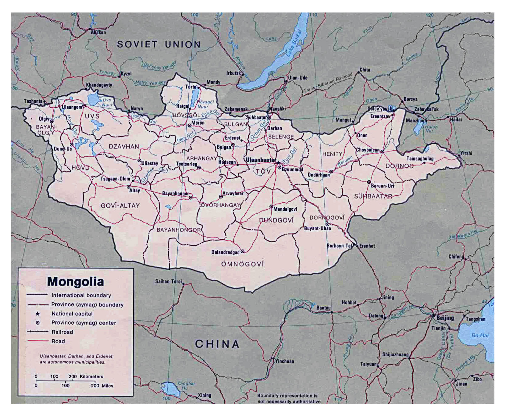 Maps of mongolia detailed map of mongolia in english tourist map detailed political and administrative map of mongolia 1989 gumiabroncs Images