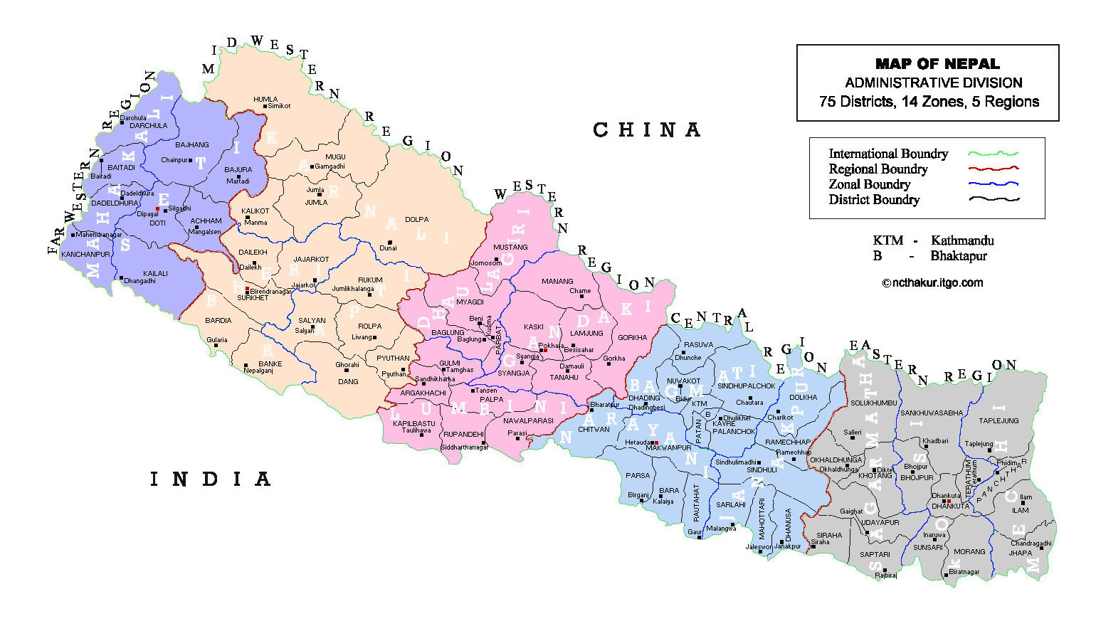 Maps of Nepal | Detailed map of Nepal in English | Tourist map of ...