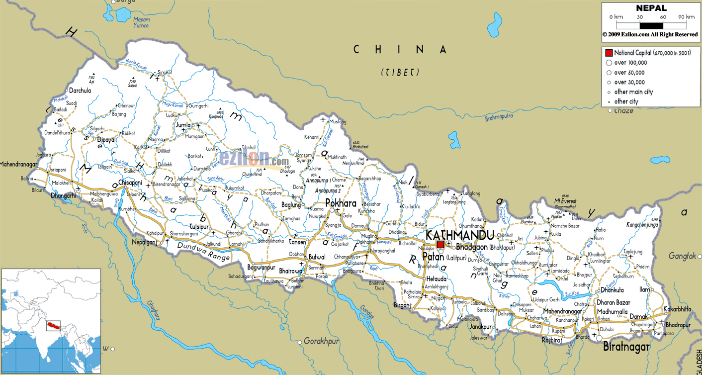 Maps Of Nepal Detailed Map Of Nepal In English Tourist