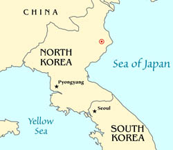 Map of North Korean nuclear test - 2006.