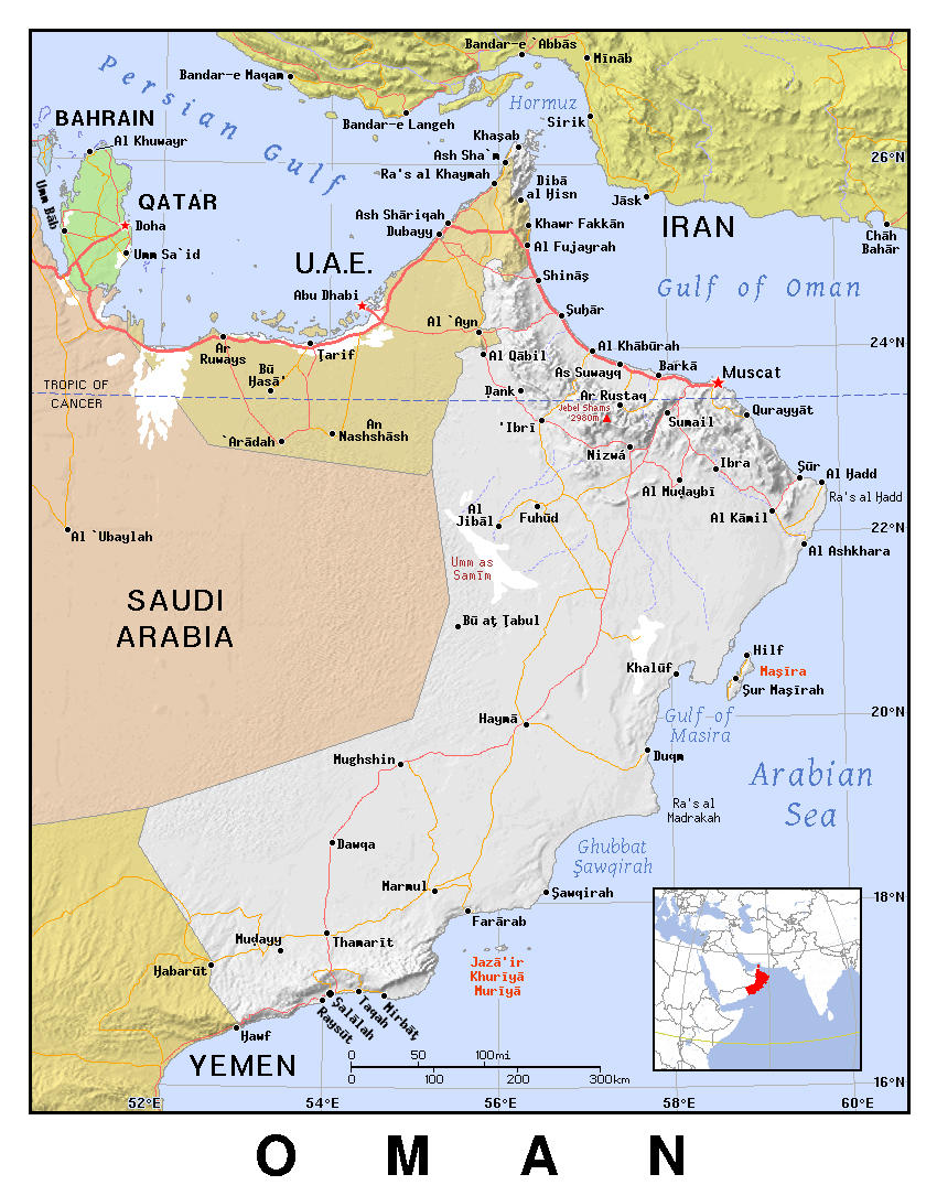 Maps of Oman | Detailed map of Oman in English | Tourist map of Oman