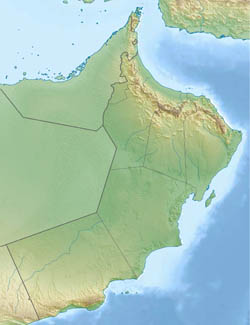 Large relief map of Oman.