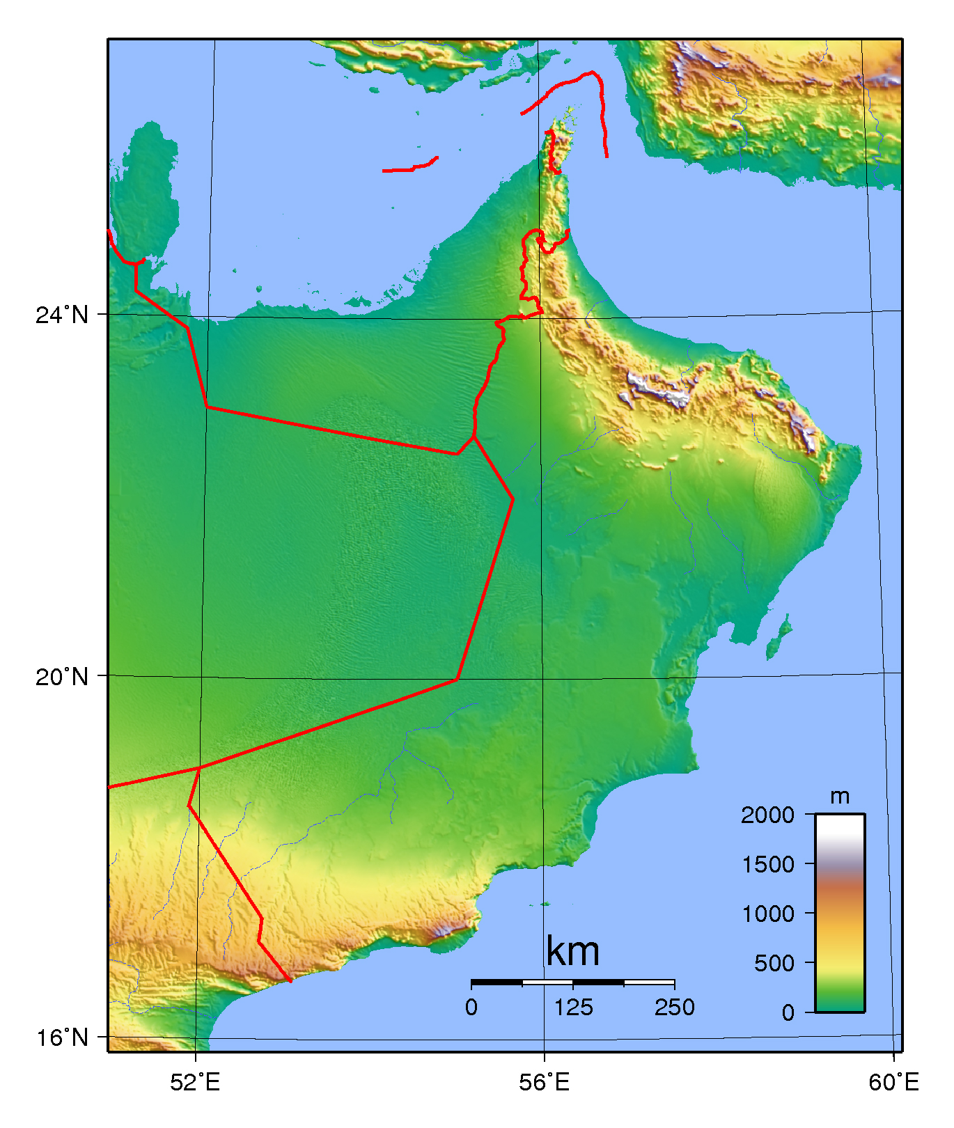 Maps of Oman Detailed map of Oman in English Tourist map of Oman
