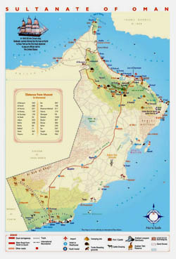 Tourist map of Oman.