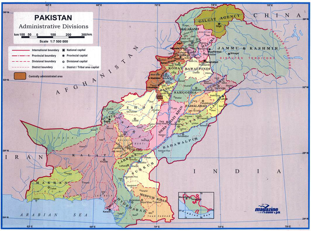 Complete Map Of Asia.Maps Of Pakistan Detailed Map Of Pakistan In English Tourist Map
