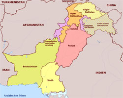 Large administrative map of Pakistan.
