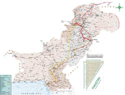 Large detailed tourist guide map of Pakistan.