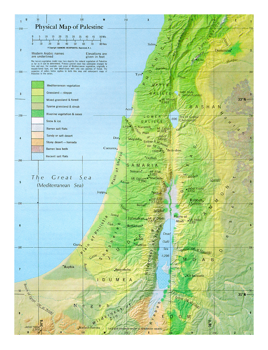 Maps Of Palestine Detailed Map Of Palestine In English Tourist - Detailed map of nj