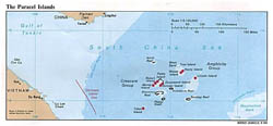 Detailed political map of Paracel Islands - 1988.