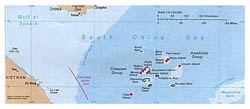 Detailed political map of Paracel Islands.