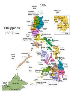 Detailed administrative map of Philippines.