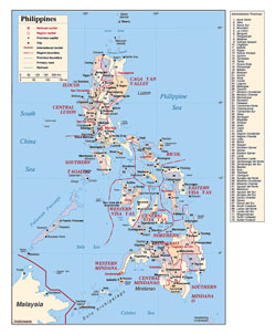 Detailed political and administrative divisions map of Philippines.