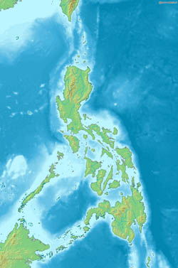 Detailed relief map of Philippines.