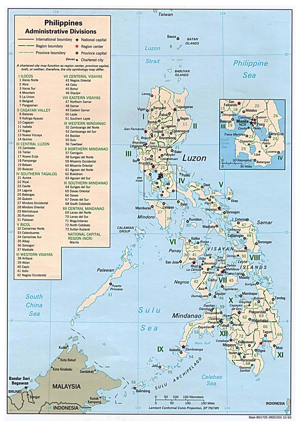 Maps of Philippines Detailed map of Philippines in English