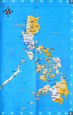 Large administrative map of Philippines with major cities.