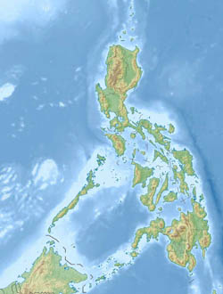 Large detailed relief map of Philippines.