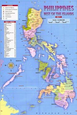 Large political and administrative map of Philippines.