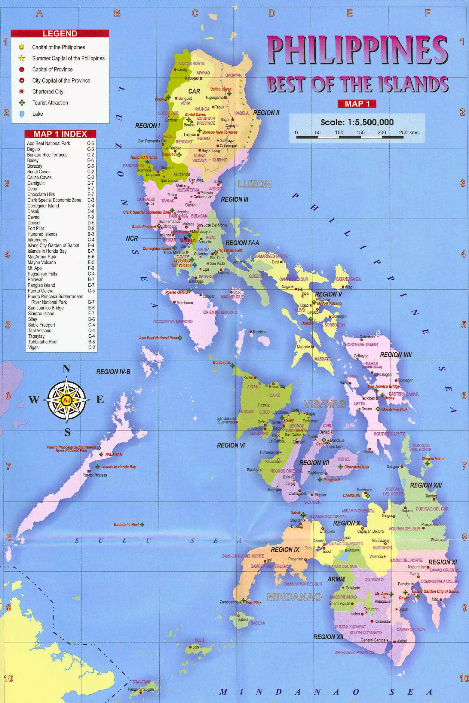 Maps Of Philippines Detailed Map Of Philippines In English - Asia maps