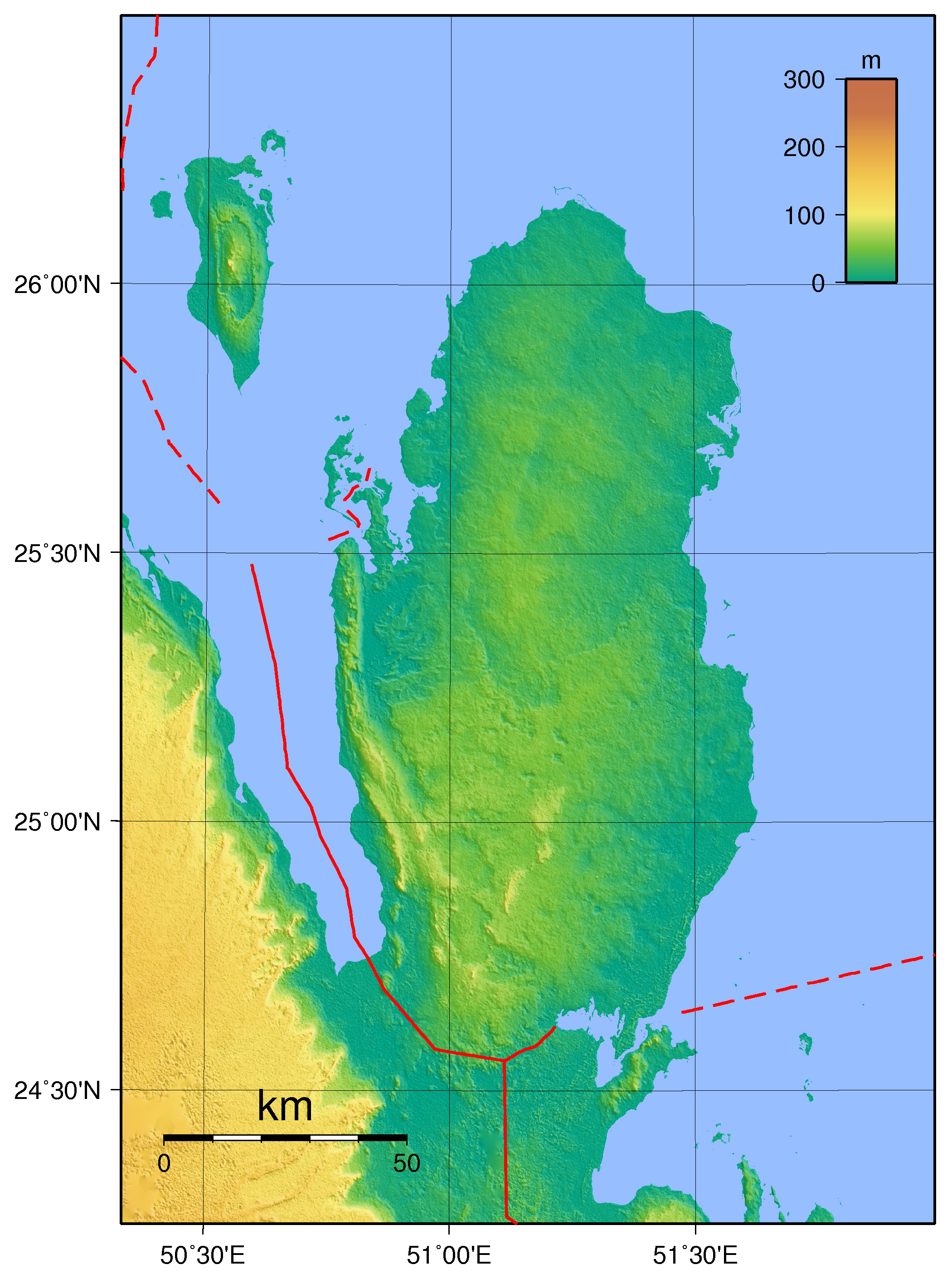 Maps of qatar detailed map of qatar in english tourist map of large physical map of qatar publicscrutiny Images